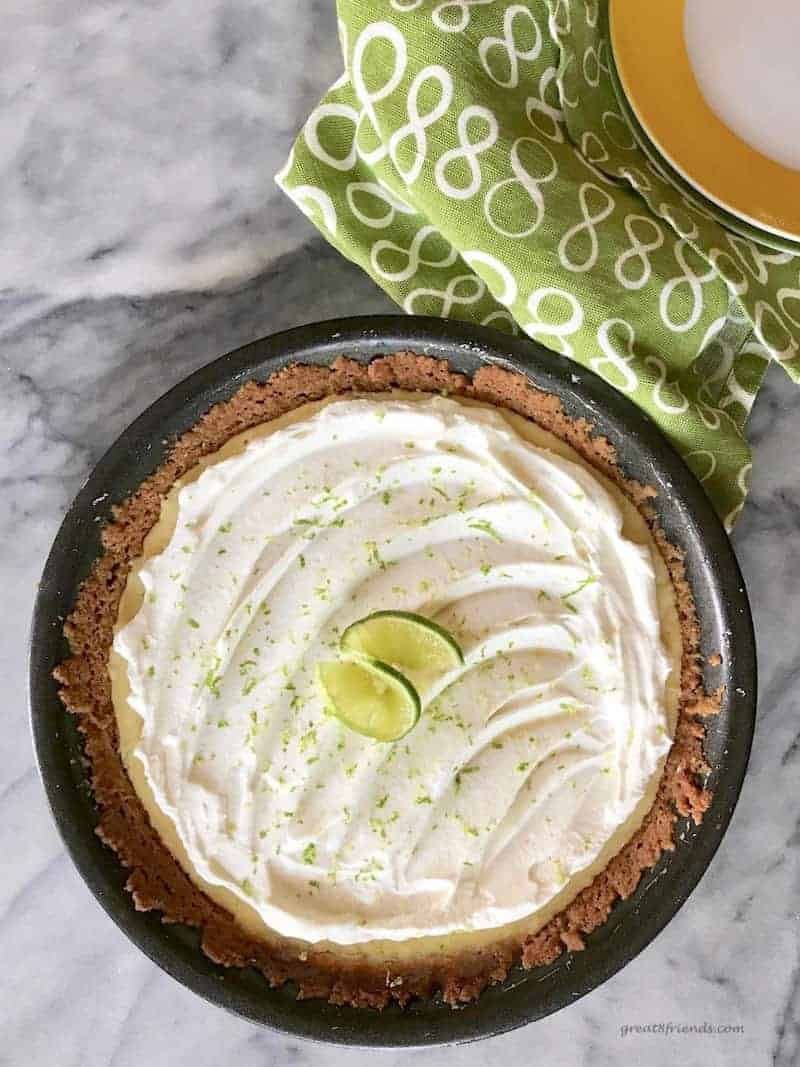 This Key Lime Pie is a simple recipe with delicious results. Make this and amaze your friends and family. The tangy tarty limey-ness is refreshing.