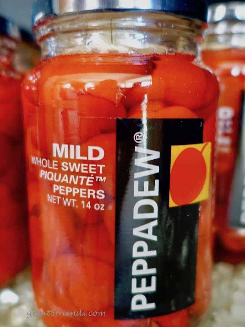 A jar full of Peppadews
