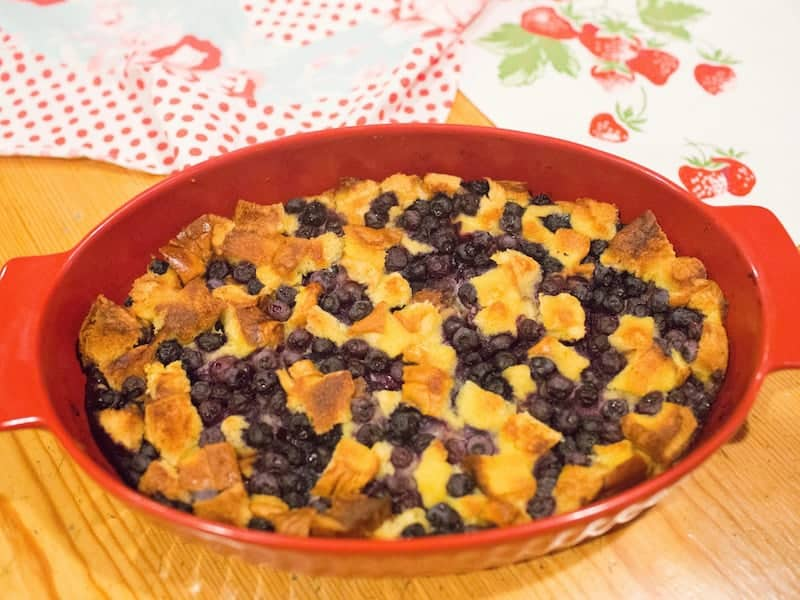 Memories from our mother's kitchen blueberry bread pudding