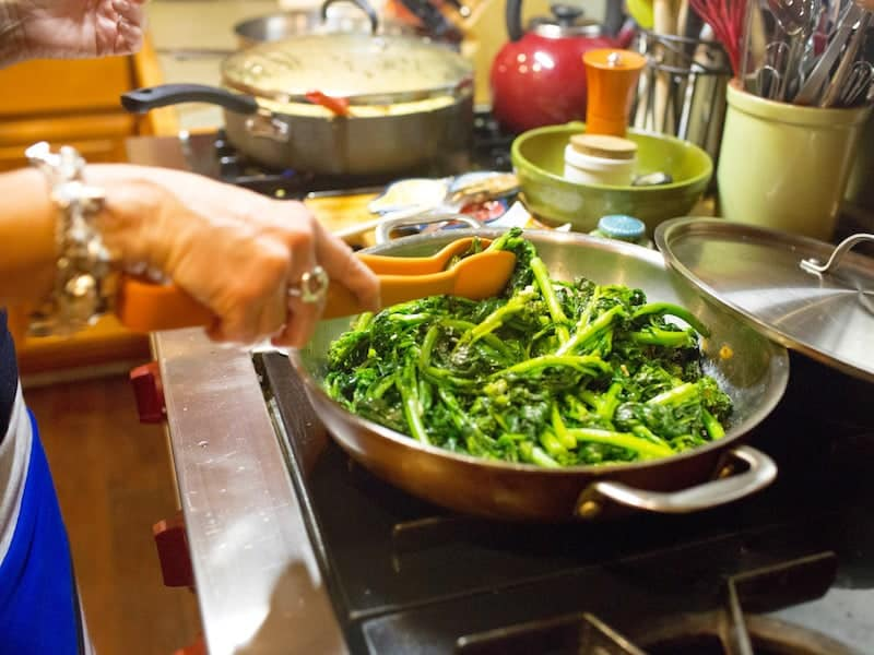 Memories from our mother's kitchen broccoli rabe