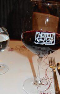 Roma at Last Cul De Sac Wine Glass