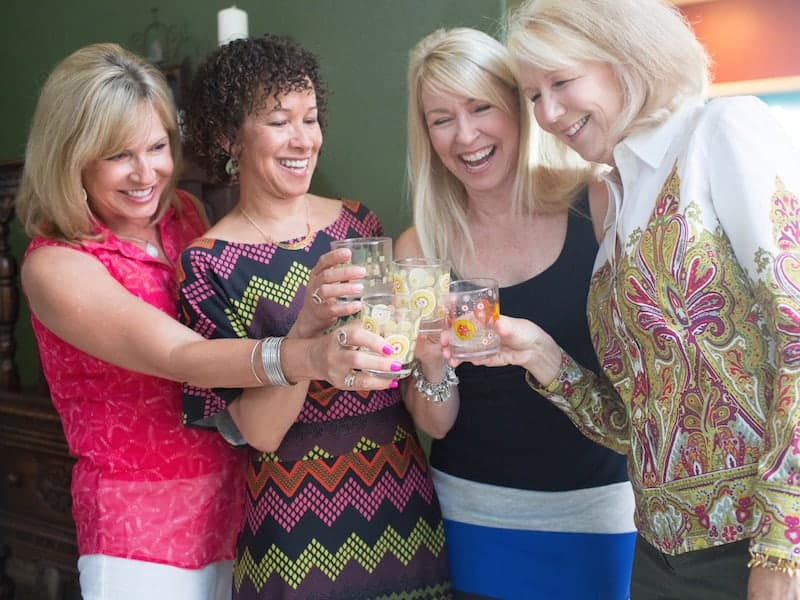 Memories from our Mother's Kitchen 4 ladies toasting.
