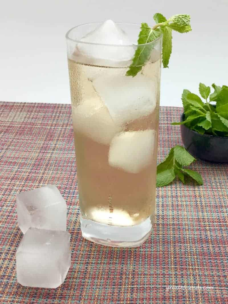 My husband enjoys creating a signature drink for our Gr8 Dinners. This Ginger Mojito is a twist on the classic Mojito...extra ginger!