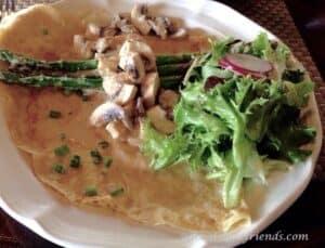 La Crepe Bistro Chicken and Asparagus Crepe
