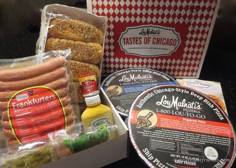 Chicago hot dog and pizza kit from Lou Malnati's.