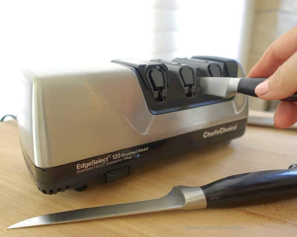 Chef's Choice Electric Knife Sharpener.