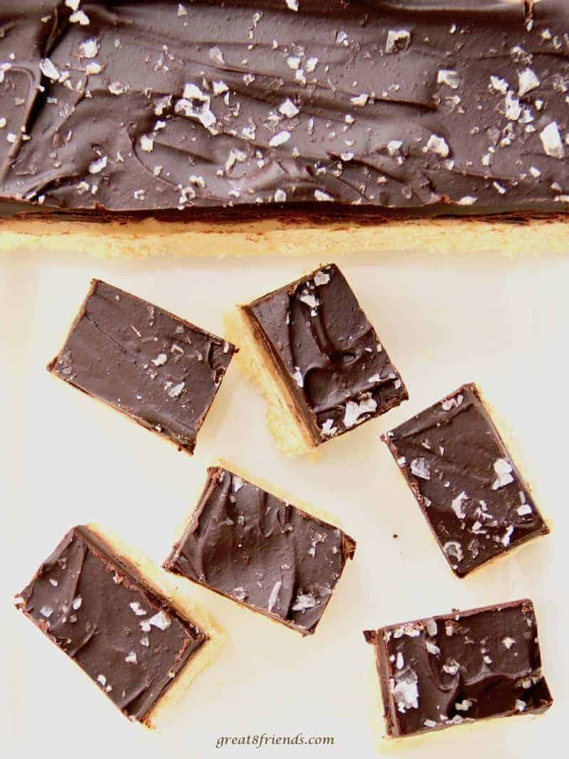 Caramel Chocolate Shortbread Bars