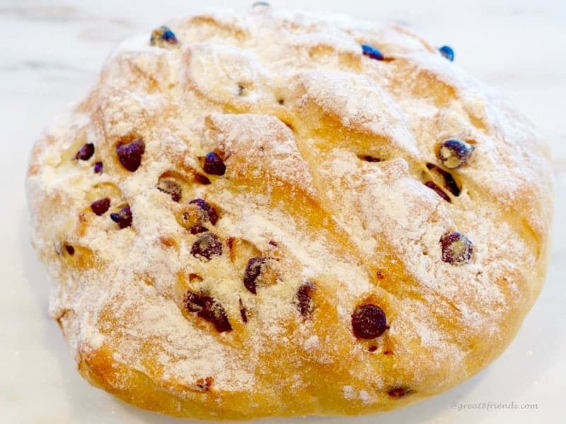 Loaf of Chocolate Chip Bread.