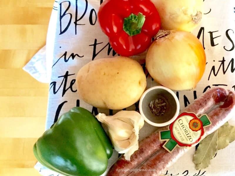 chorizo empanadas ingredients.