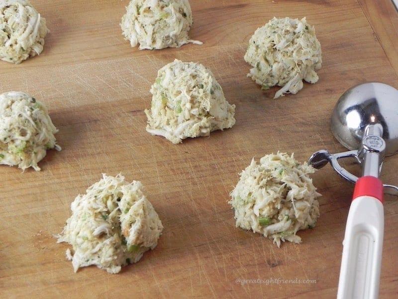Uncooked Crab Cakes.