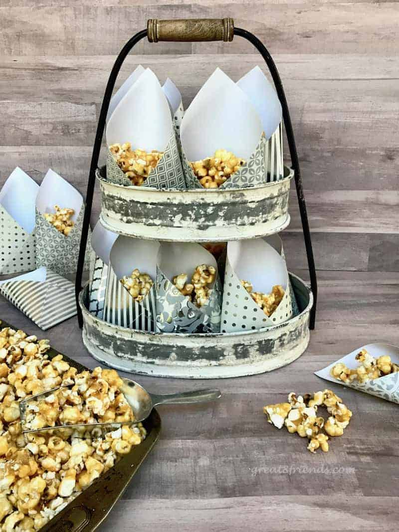 Homemade Caramel Corn with Smoked Almonds and Fleur de Sel - grown-up Cracker Jacks, add your own prizes! This recipe is a new take on the old classic.