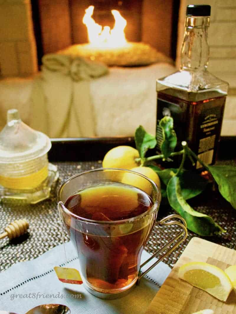 This Hot Toddy is the perfect solution for those suffering with a cold! Just go to your pantry and mix a few ingredients to soothe your suffering.