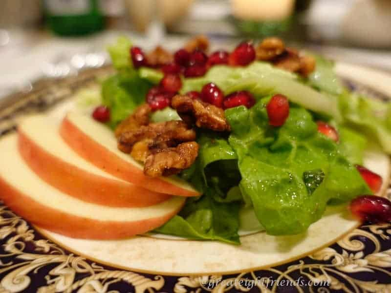 Pomegranate, Apple, Walnut Salad