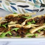 Portobello Mushroom Quesadillas with cartelized onions