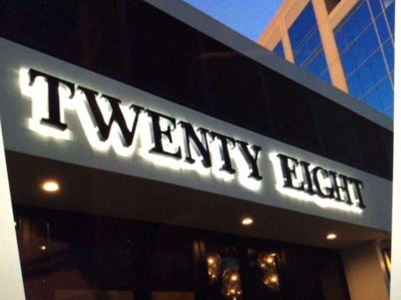 Twenty Eight sign