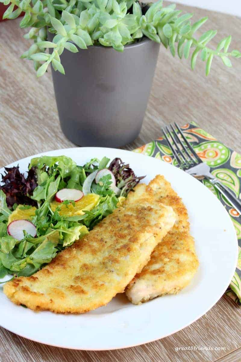 These Crispy Parmesan Chicken Cutlets are the perfect dinner for two or double the recipe for company! Easy and delicious, a crowd favorite!