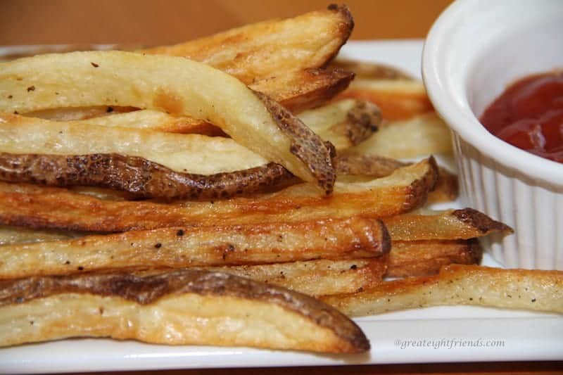 These Crispy Oven Fries are the perfect, healthier way to enjoy french fries. Turn on the oven and there will be no frying mess!