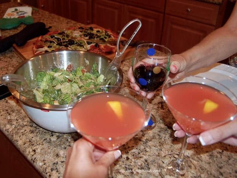 Scrapbooking Salad Drinks