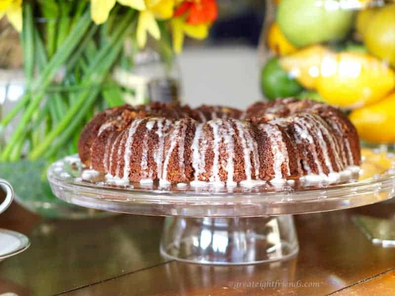 This buttery Cinnamon Coffee Cake is grain-free, gluten-free, and paleo-friendly!