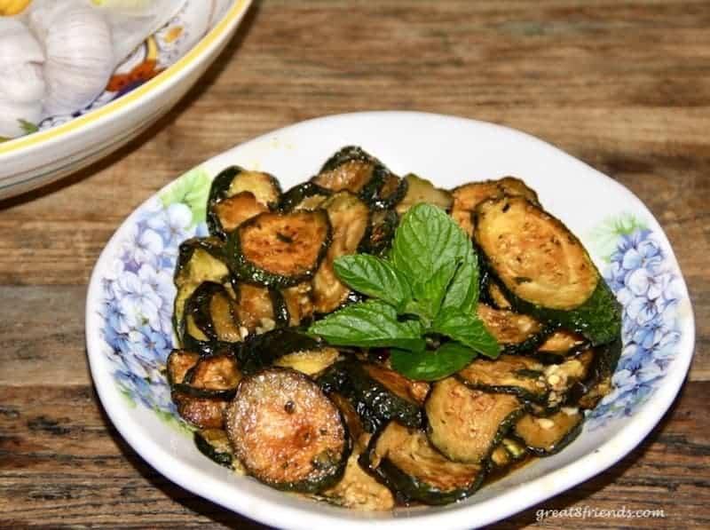 Zucchini Scapece.