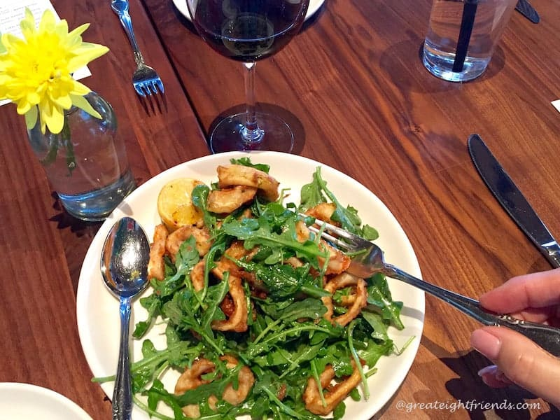 Double Birthdays Calamari Arugula