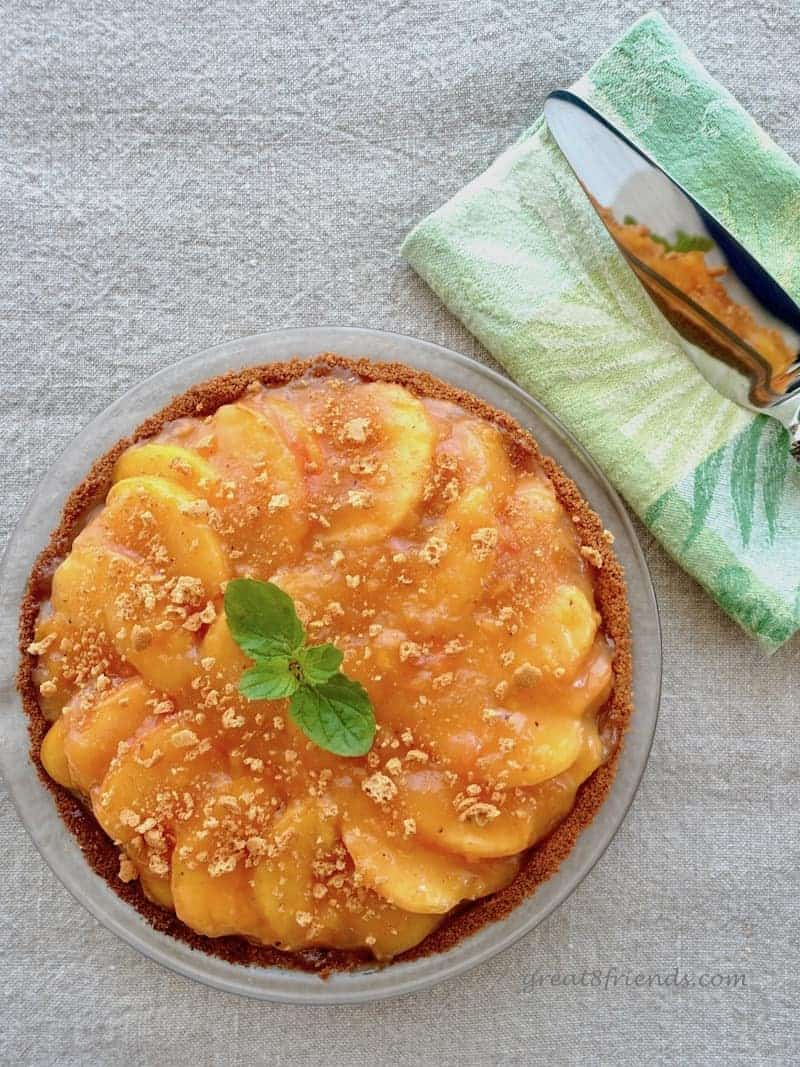 Use your ripest peaches to make this luscious peach amaretti pie. A fruit dessert is the perfect solution to fruit that is ripening too fast.