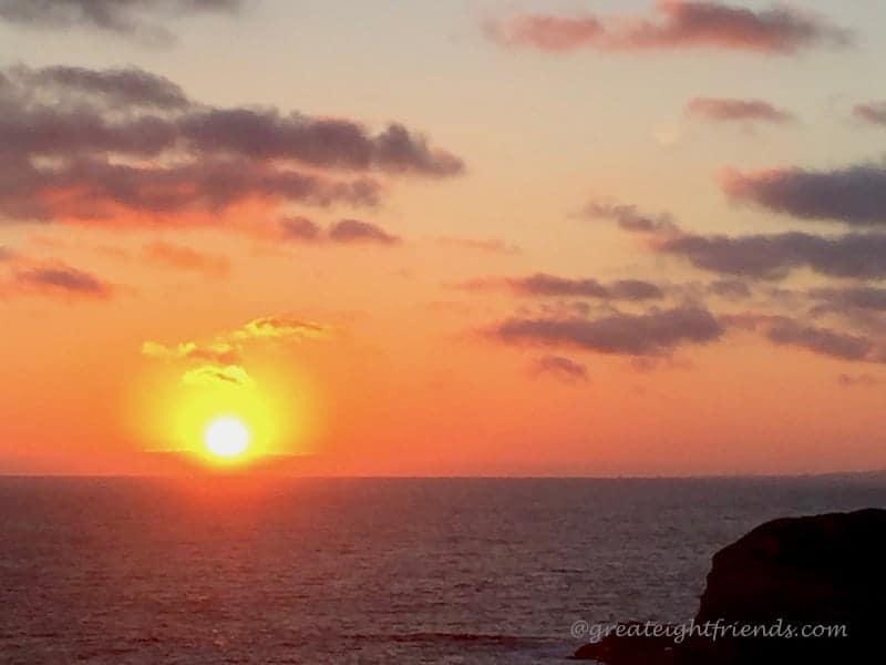 A beautiful orange and yellow sunset
