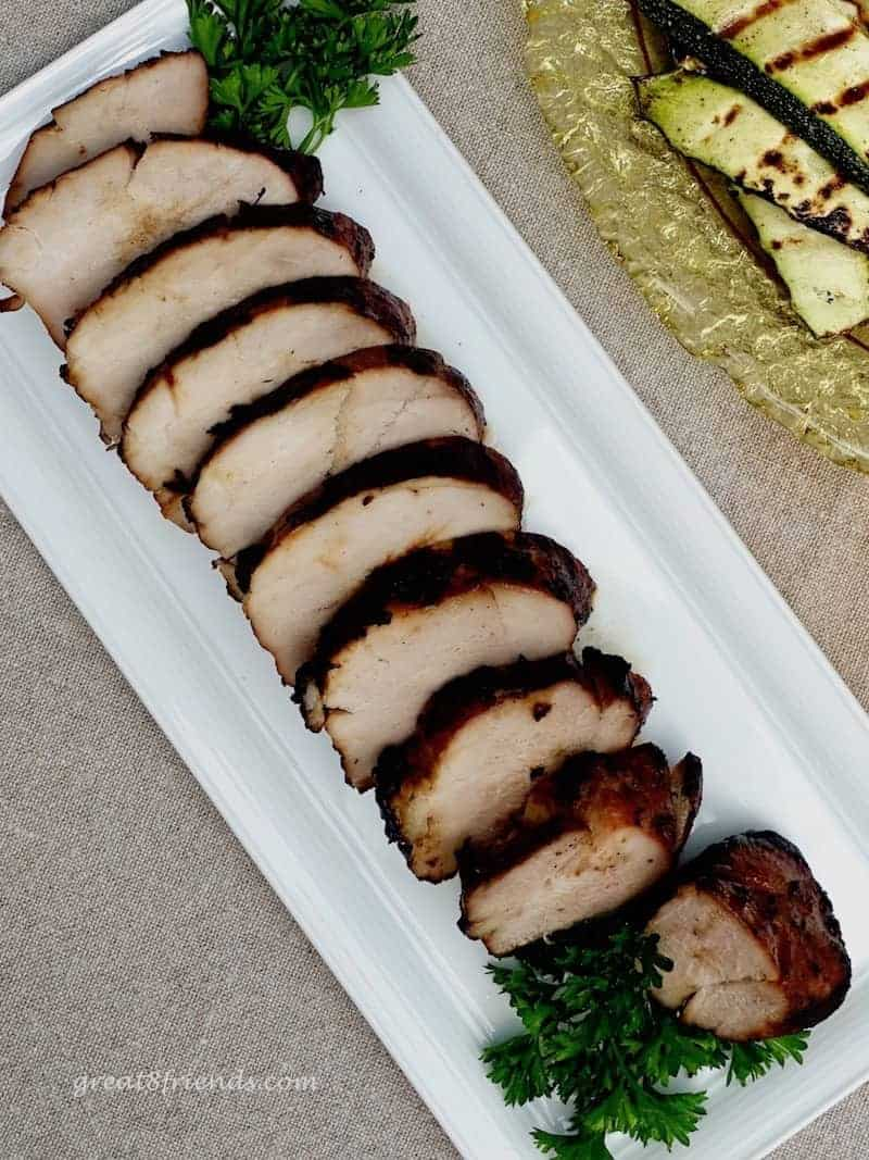 Did you know there's a secret to getting perfectly Grilled Pork Tenderloin? We have it here! And Pork Tenderloins are the perfect summer meal!