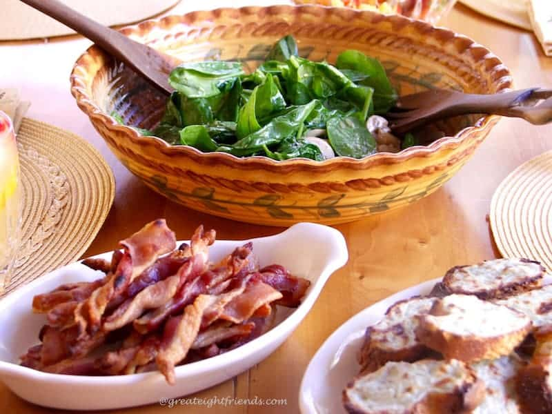 Bacon Twists in Spinach Salad 2