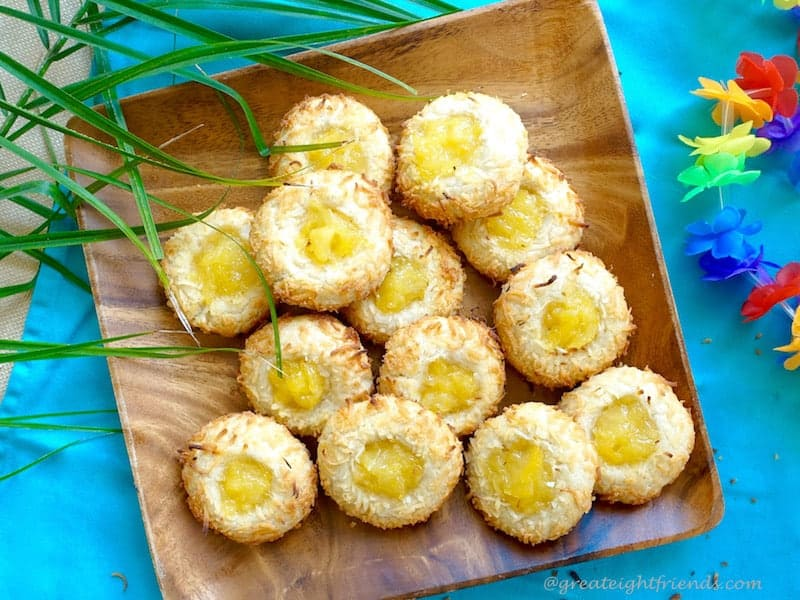 Coconut Pineapple Cookies Plated