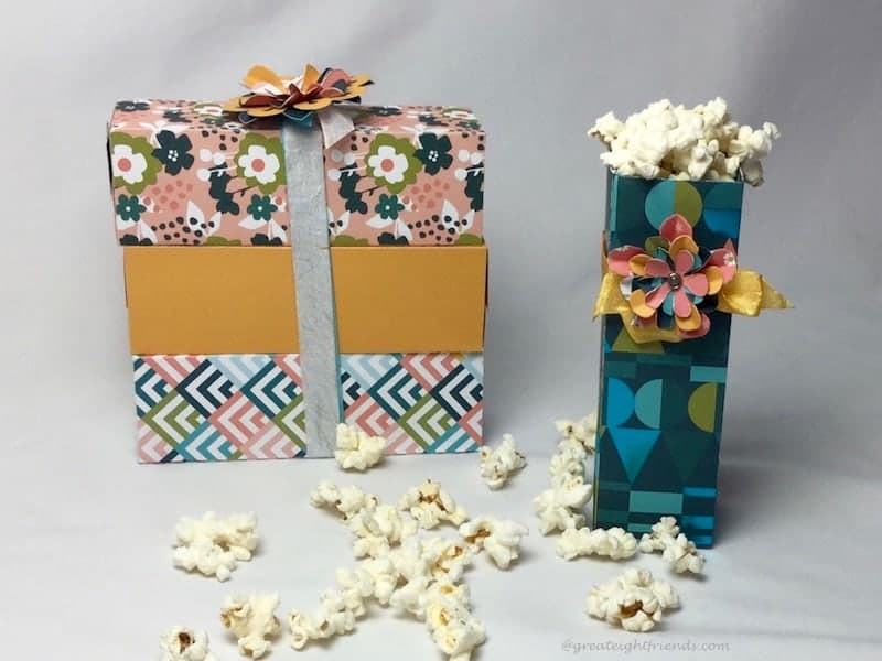 Microwave Popcorn in homemade Boxes