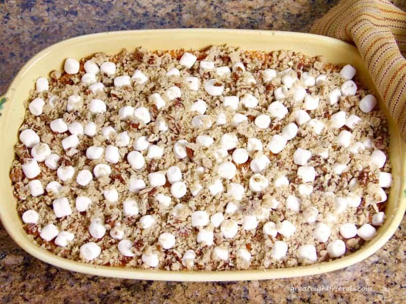 Sweet Potato Casserole unbaked