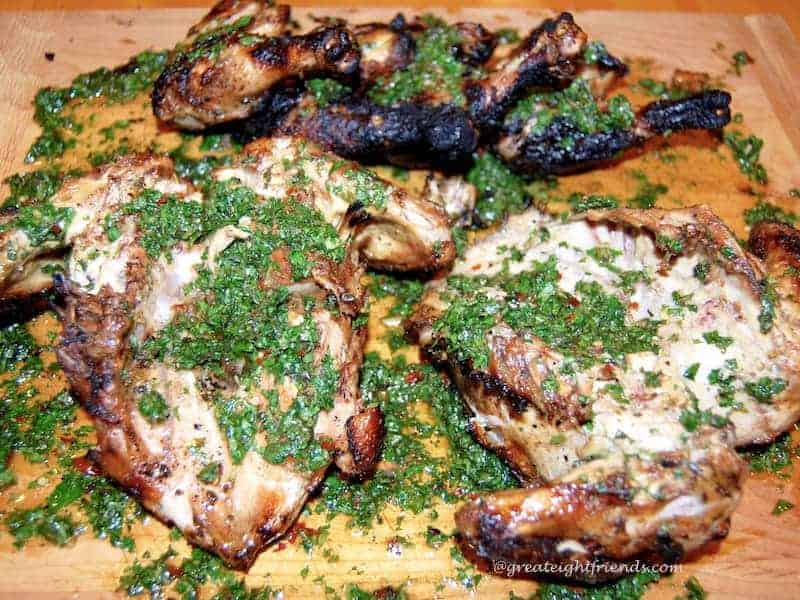 Chicken with Board Dressing 3