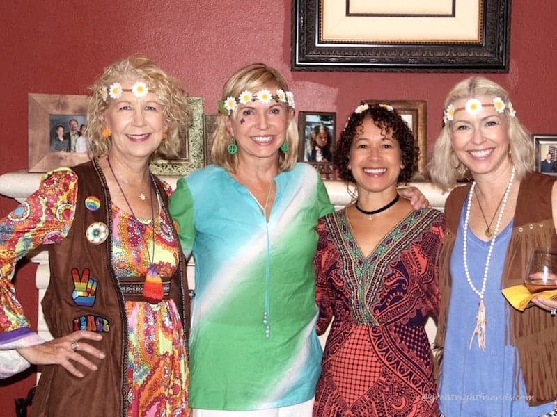 Our Gr8 Dinner was a Far Out Hippie theme! Check out the invitations, decorations and menu. It was a groovy night for the us old hippies!