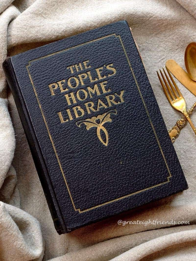 The Peoples Home Library antique book.