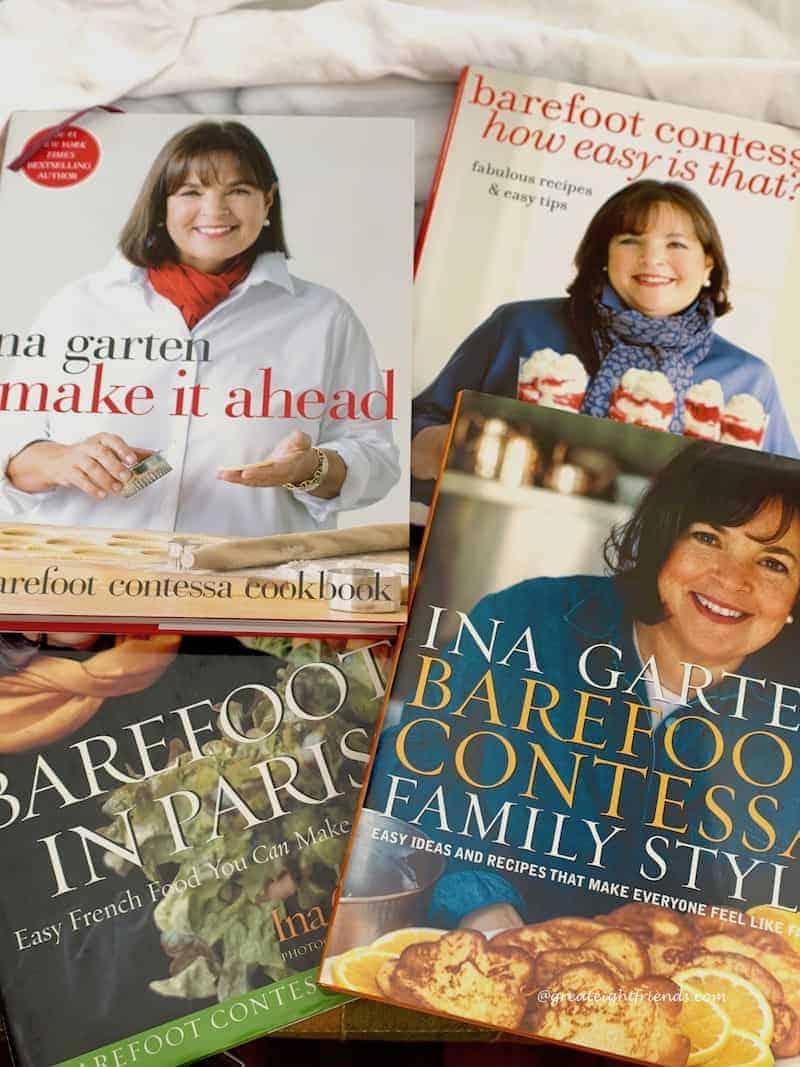 Several Barefoot Contessa cookbooks.