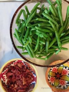 Green Beans, bacon Ingredients