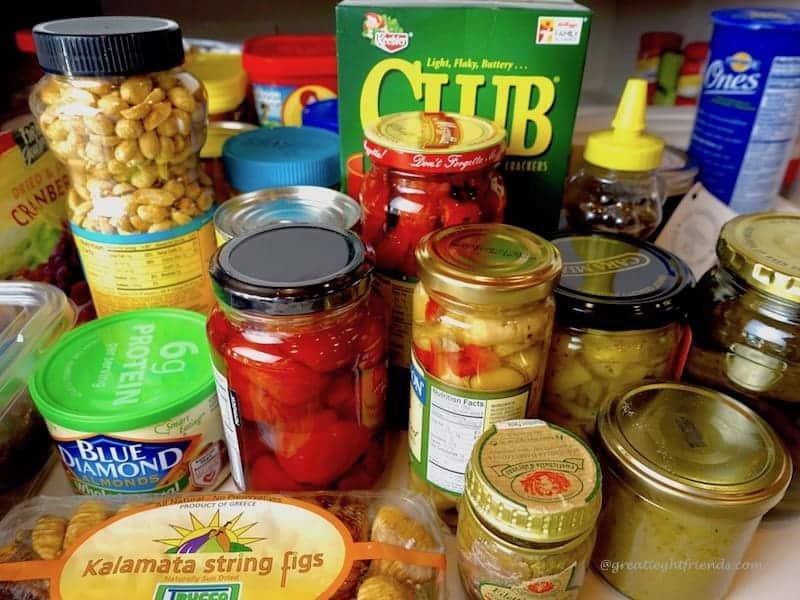 Jars of pickled veggies.