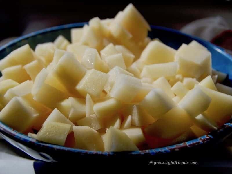 Rumbledethumps diced potatoes