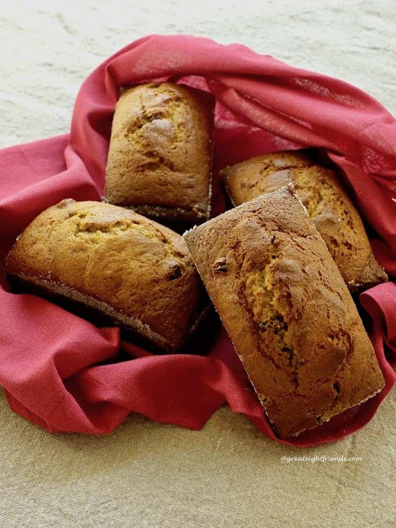 4 loaves Roasted Pumpkin Olive Oil Quick Bread