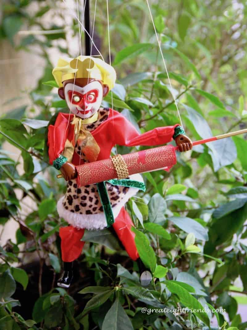 Chinese New Year Monkey marionette.