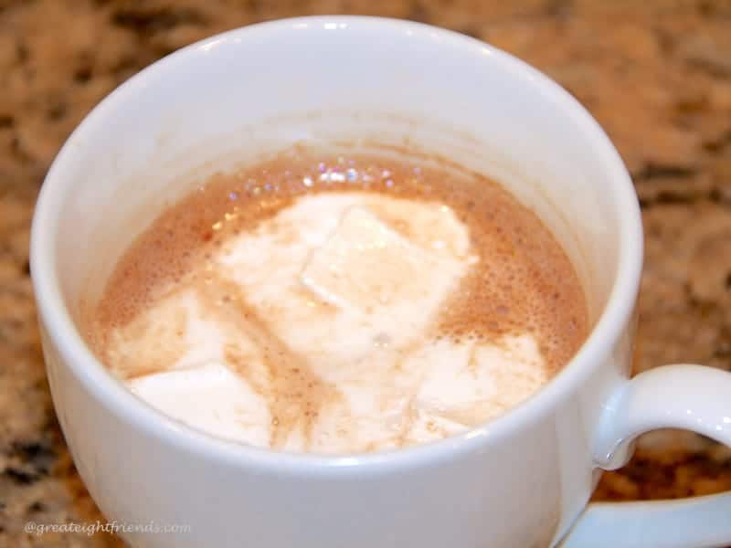 homemade hot chocolate with homemade marshmallows