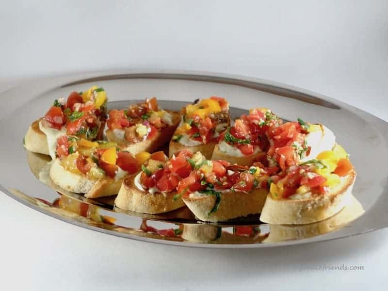 the winner is tomato crostini