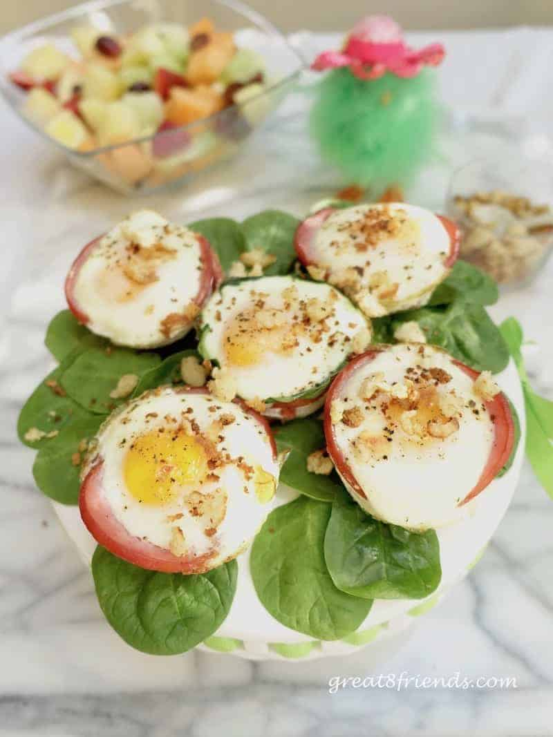Elegant Easter Brunch Baked Eggs Benedict Muffin Cups