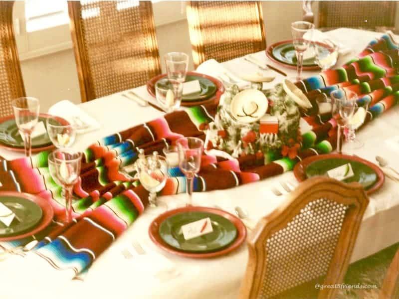 Cinco de Mayo table setting 1999