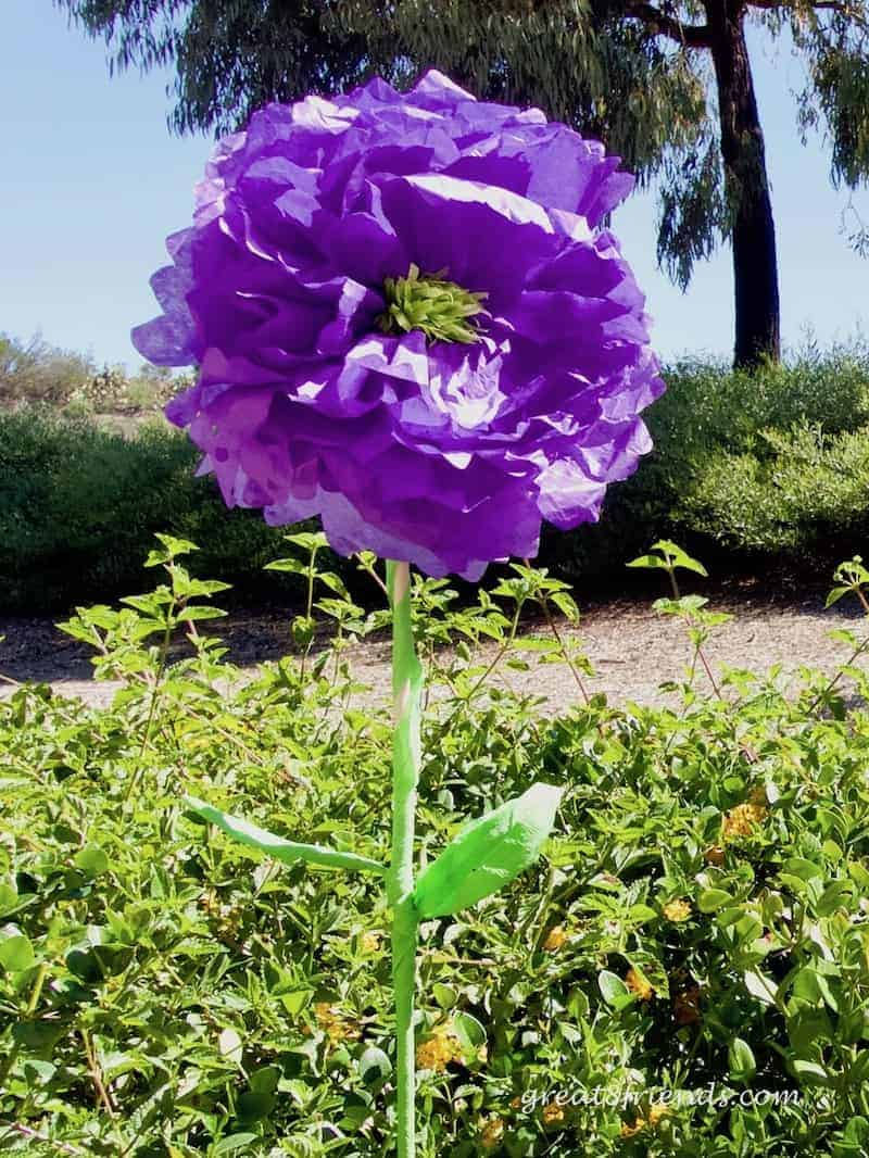 Trolls Birthday Party Purple Flower