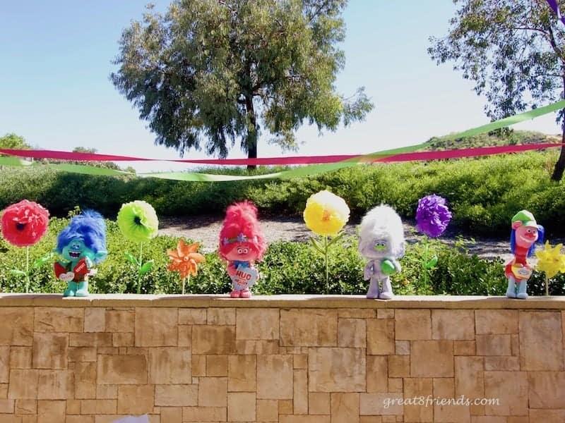 Trolls Birthday Party Trolls and Flowers
