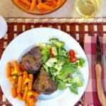 Lamb Chops and Orange Glazed Carrots
