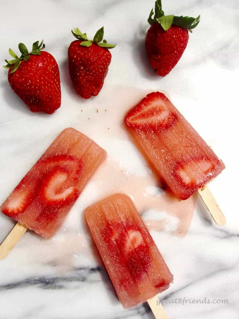 Strawberries and popsicles