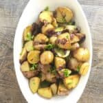 These Roasted Herbed Baby Potatoes are the perfect side dish for any beef, chicken, lamb or fish dish. A simple recipe with lots of flavor!